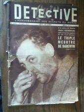 Détective 1951 258 BARENTIN XERTIGNY péage de roussillon Hospices de beaune