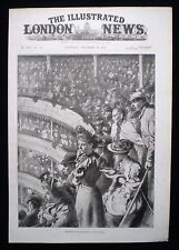 CHRISTMAS PANTOMIME THEATRE ROYAL GALLERY DRURY LANE LONDON VICTORIAN PRINT 1893