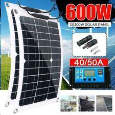 New 300w 600 Watt Portable Monocrystalline Solar Panel 18v Rv Car Battery Charge