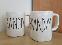 NEW RAE DUNN by Magenta GRANDMA & GRANDPA Coffee Tea Mug Farmhouse Home Decor