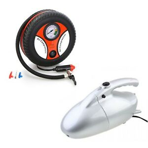 260PSI Auto Car Electric Tire Inflator with JK800 Vacuum Cleaner