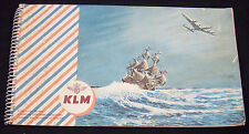 Vintage 50s KLM Airlines Flying Dutchman Route Dutch Map Atlas Welcome Booklet