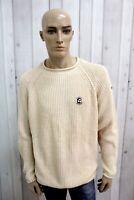NAPAPIJRI Uomo Maglione Taglia XL Cotone Casual Logo Man Pullover Sweater