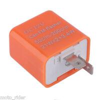 ADJUSTABLE SPEED LED MOTORCYCLE Indicator Flasher RELAY Resistor Fix Flash 2 PIN