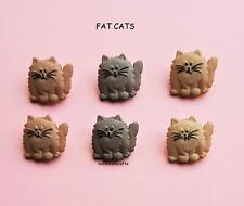 DRESS IT UP BUTTONS 5830 - CRAFTS CAKE-MAKING CARDS - FELINES - FAT CATS