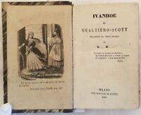 LETTERATURA WALTER SCOTT IVANHOE 1854 RICCARDO CUOR DI LEONE ANGLO SCOZZESE ILL