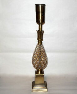MCM PINEAPPLE Crystal LAMP  Hollywood Regency French Moderne Maison Jansen Era