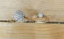 Joblot rings  9ct gold DIA ring and   9ct gold ring CZ stones