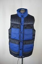 MSRP 429 NWT Barbour x White Mountaineering Raekawa Quilt Vest Gilet Size L Blue