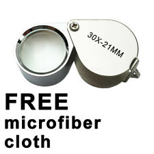 Jewellers Eye Loupe Magnifier Folding Magnifying Glass 30 x 21mm Jewelers