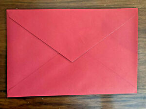 """50 PCS Red Colored Greeting Christmas Card Envelopes for Invitations 8.5"""" x 5.5"""""""