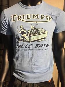 Triumph Johnson Motors Cycle Bath Men's T-Shirt, XXL