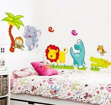 Happy Animal Wall Decals Kids Bedroom & Baby Nursery Stickers Art Decor Room HOT