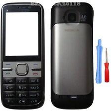 Silver Black Fascia Full Housing Case Cover Faceplate Keypad Nokia C5 C5-00 +TL