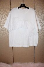 COS Collection of Style NWT White Ruffle Short Sleeve Knit Tee Top Large L