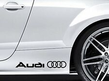 AUDI LOGO Vinyl Decal sticker Sport Racing emblem Sticker 2x side stickers
