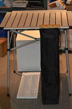 Campingtisch Zelt Picknicktisch Alu faltbarer 70x70cm Mit Rollplatte Silber top