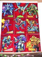 1993 MARVEL UNIVERSE SERIES IV RED FOIL 9 CARD INSERT SET SKYBOX 2099 SPIDERMAN!