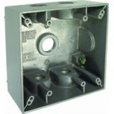 Hubbell-Bell 5337-0 Two Gang 5-1/2-Inch Outlets Weatherproof Box