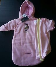 4pc US POLO ASSN SNOW SUIT COAT WINTER PINK BABY 0-9 M 3 Onesies boys girls NWT