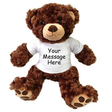 "Personalized Teddy Bear - 13"" Vera Bear - Brown"