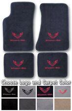 1982-2002 Pontiac Trans Am 4pc Carpet Floor Mats - Choose Color & Official Logo