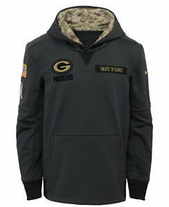 Green Bay Packers YOUTH 2016 Salute to Service Sweatshirt Pullover Hoody SMALL
