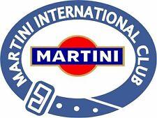 Motor Car Exterior Vinyl Decals Martini International Club Racing Style Le Mans