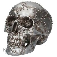 RIVET HEAD 19cm Nemesis Now Ornament Skull Steel Metal Gothic Gift BNIB FREE P+P