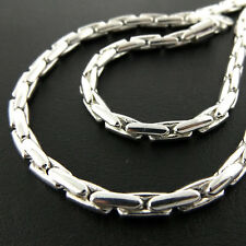 Necklace Chain Real 925 Sterling Silver S/F Solid Heavy Bling Unisex Link Design