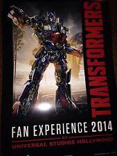 Transformers Botcon 2014 Universal Studios Fan Experience Lithograph Exclusive