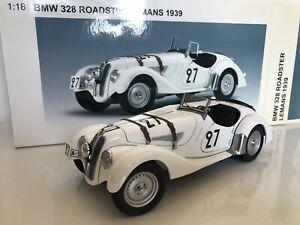 AUTOart 83945 BMW 328 Roadster LeMans 1939 White #27 1:18 Diecast Car RARE