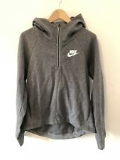 NEW NIKE WOMENS GREY HOODED GYM SPORTS TOP JUMPER HOODIE SIZE XL