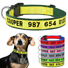 Personalised Dog Collar Boy Girl Puppy ID Collars Embroidered Name Phone Number