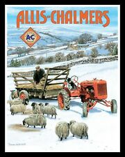 "10 x 8"" ALLIS CHALMERS VINTAGE FARM TRACTOR METAL PLAQUE SIGN OTHERS LISTED 1129"
