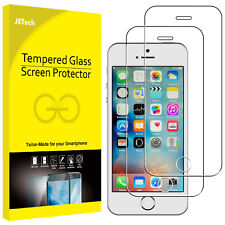 JETech 2-Pack Screen Protector for Apple iPhone SE 5s 5c 5 Tempered Glass Film