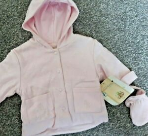 Lovely ... 0-3months Beatrix Potter Peter Rabbit  Pink COAT & Mitts