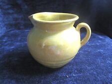 "70s North Carolina pottery small yellow pitcher, 3.5"" hi, A++ perfect,unsigned"