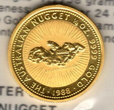 1988 Australian 1/4 oz  Gold Nugget Coin - Genuine Great Gift