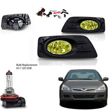 New 2006-2007 Honda Accord 4Dr Yellow Fog Light Wiring Kit Included & Light Bulb