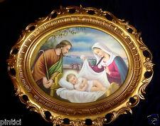 Joseph Maria Jésus en LE BERCEAU IMAGE Cadre 68x58 or baroque Sacra famille