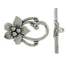 Armband # Ring 12,5mm Steg 24mm 2 Knebelverschlüsse Verschluss Toggle