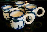Debbie Dean Pottery Coffee Cups Lot of 4