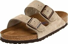 Birkenstock Arizona Unisex Taupe Suede w/ Synthetic Sole Sandals US 8-8.5 2A(N)
