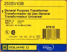 Square D General Purpose Transformer 250Sv43B , New in Box, Free Shipping