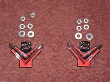 1954 1955 1956 Ford V8 Front Fender Emblems - Pair -1955 T-Bird