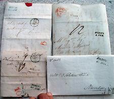 1837 LOTTO 4 PREFILATELICHE CON TIMBRI DI PADOVA DIVERSI TRA LORO.RARO INSIEME