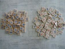 171 Board Game Wood Letter Tiles Red and Blue Letters Crafts/Replacement