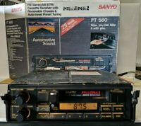 Vintage SANYO FT 560 Intellituner 2 Removable Chassis Cass. AM/FM Stereo Tested!