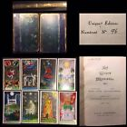 Prized 1939 Astrosophy Hand Painted Le Tarot Medieval Playing Cards & Rare Book